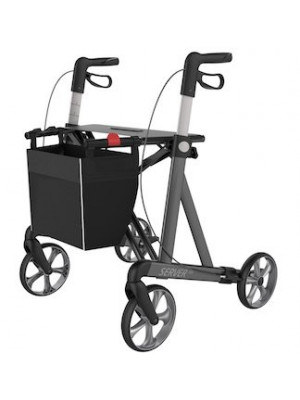 Rollator Server HD ultra léger pour personnes fortes