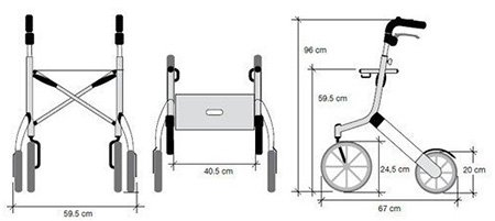 Dimensions rollator lets go out