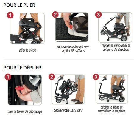Pliage et dépliage scooter Easy Trans